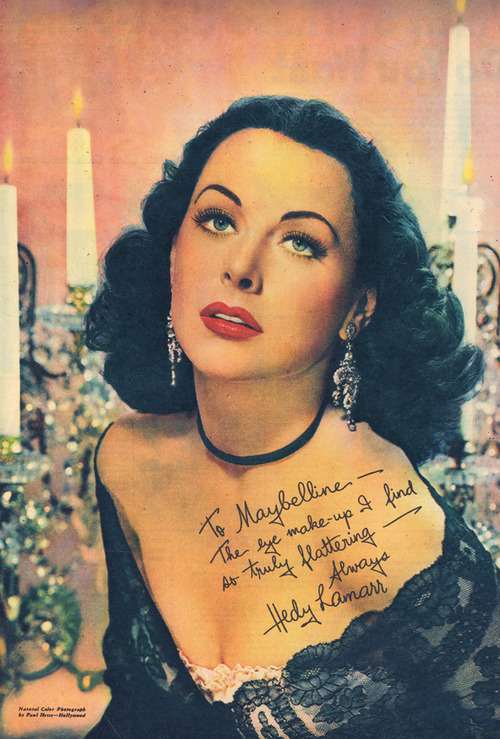 hedy lamarr maybelline ad 1946