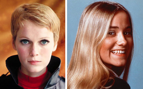 "The '60s: MIa Farrow and Maureen ""Marcia Brady"" McCormick."