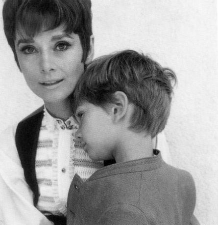 Hepburn with son Sean.
