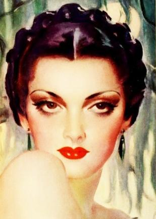 Savage Lipstick ad, 1936.