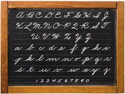 Cursive-Chalkboard