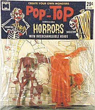 Pop Tops Vampire and Skeleton, 1964.
