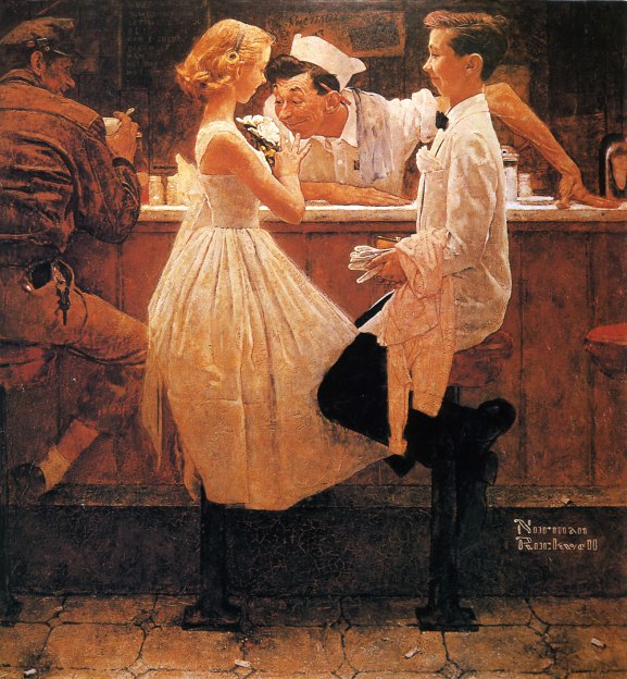 "Norman Rockwell, ""After the Prom"""