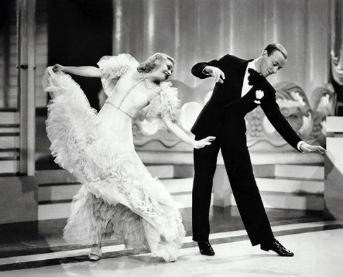 "Ginger Rogers and Fred Astaire in ""Top Hat"""