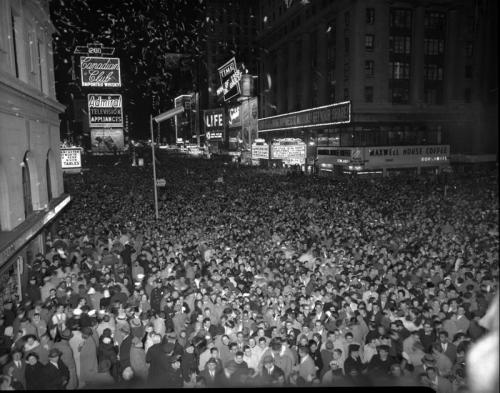 New Year's Eve in Times Square, 1959.