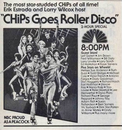 CHiPs goes roller disco.